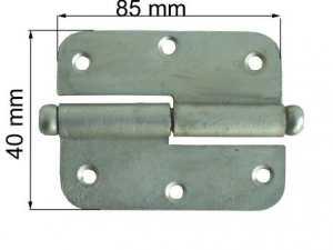 Durvju enģe 85mm kreisā