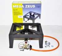 Gāzes plīts ar pjezo - aizdedze un  termo drošinātāju  MEGA ZEUS/MEVA